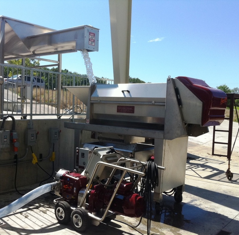 Wine Grape Process Equipment winery Waukesha 220 Vega 25 Receiving Hopper